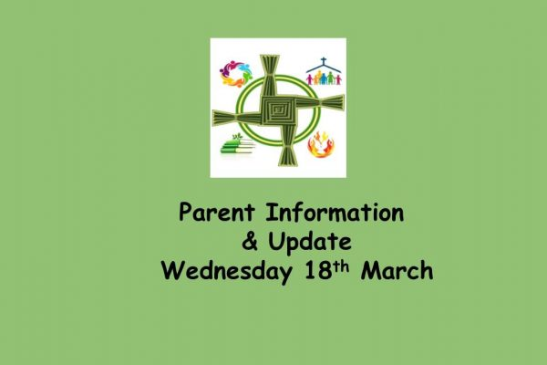 Information Letter Wednesday 18th March 2020
