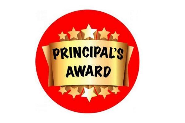Principal's Award Friday 16th October