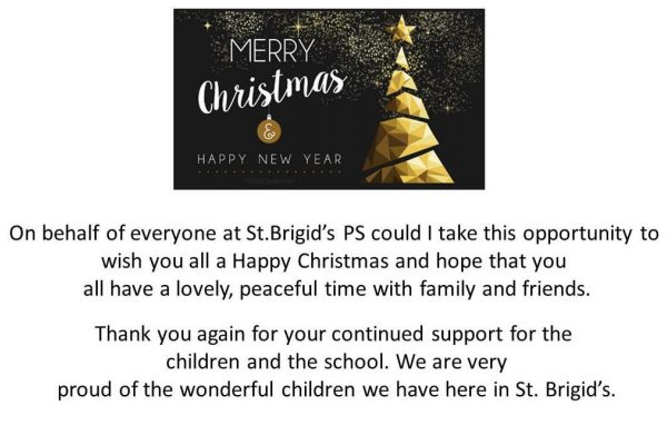 Merry Christmas From St.Brigid's