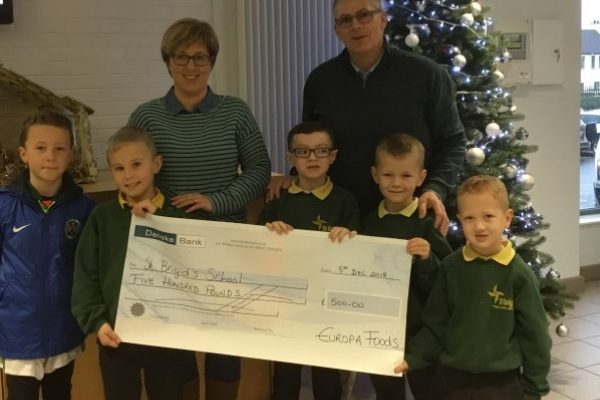 Generous Donation from Europa Foods Director
