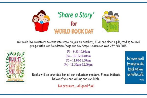 'Share A Story' For World Book Day