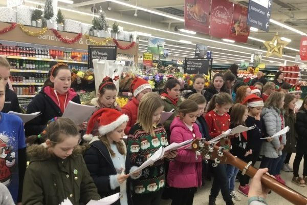 Carol Singing in Tesco