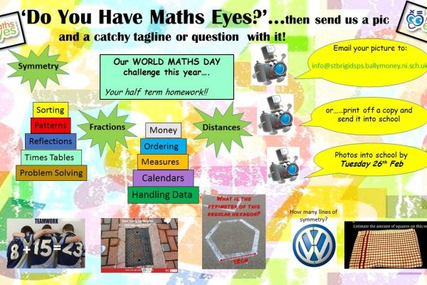World Maths Day Mid-Term Homework For All Classes